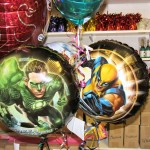Action hero balloons for the kids